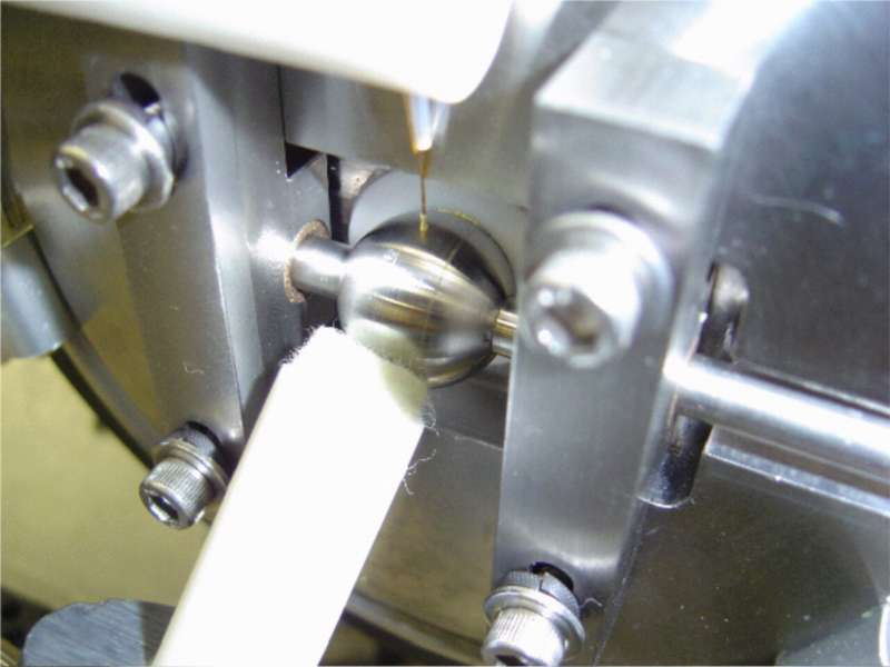Rotating ball inlet detail
