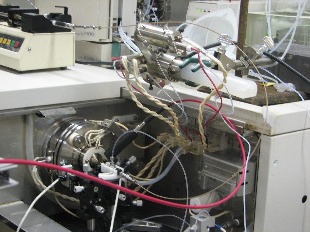 Ion Source Region for IR Laser + Electrospray