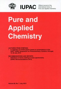 Pure and Applied Chemistry Cover July 2013