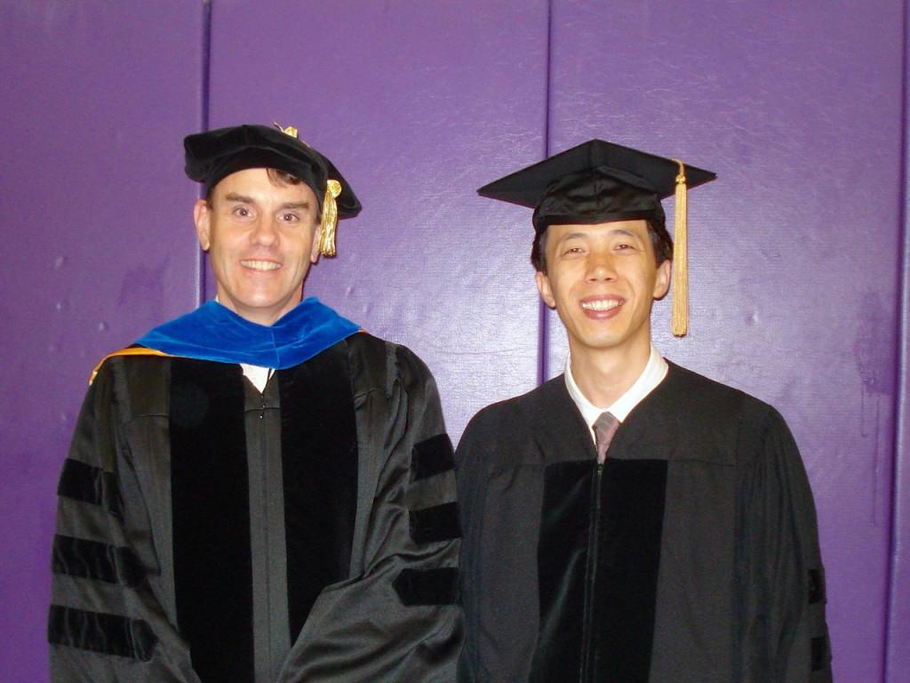 LSU Graduation May 2010 - Kermit Murray and Jeonghoon Lee