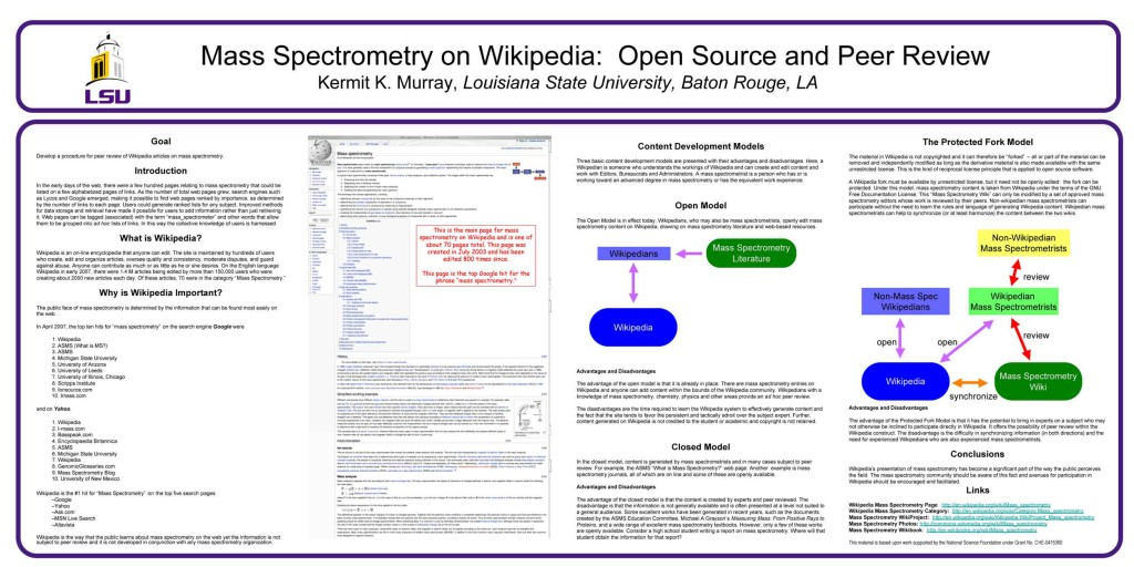 Mass Spectrometry on Wikipedia:  Open Source and Peer Review, ASMS 2007