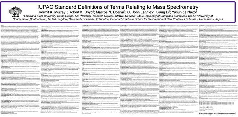 Poster Presented at  IMSC 2006, the 17th International Mass Spectrometry Conference (Prague, Czech Republic)