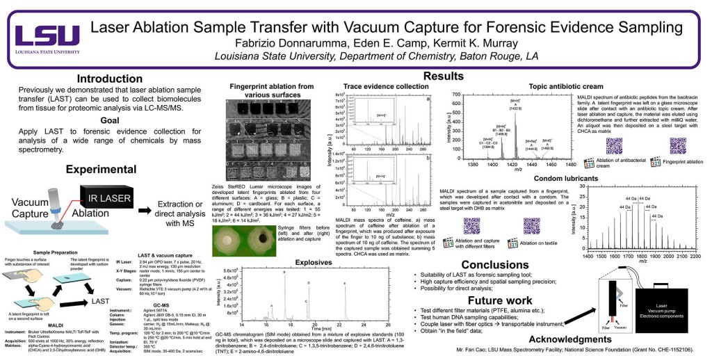 Laser Ablation Sample Transfer with Vacuum Capture for Forensic Evidence Sampling