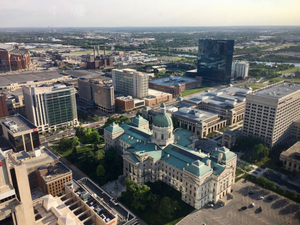Downtown Indianapolis viewed from the Skyline Club during ASMS 2017