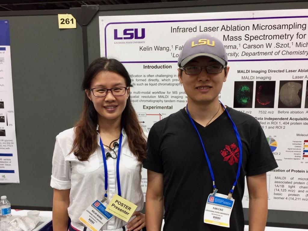 Kelin Wang and Fan Cao at ASMS 2017