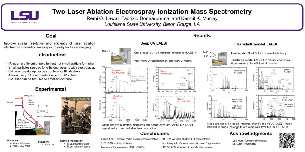 Two-laser ablation electrospray ionization mass spectrometry