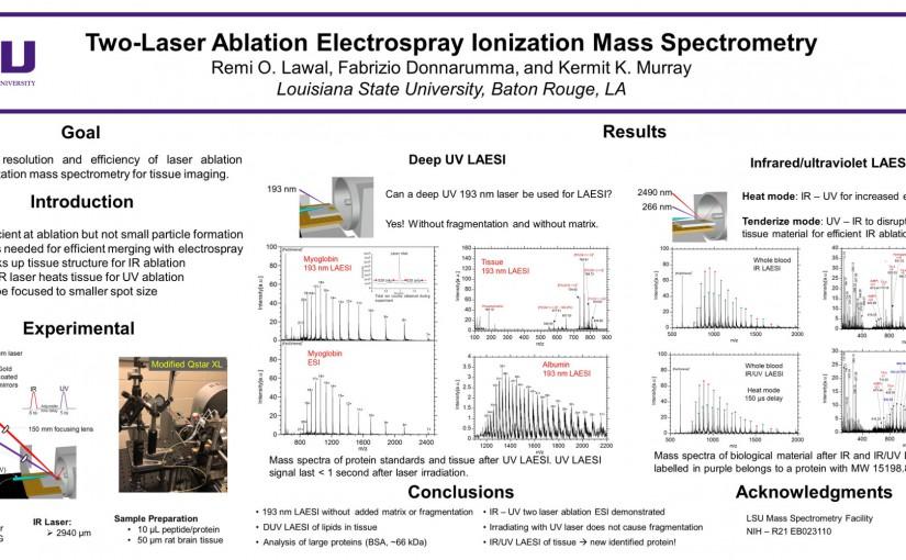 Two-laser ablation electrospray ionization mass spectrometry